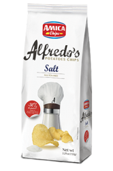 Alfredo's chips salted 150g.